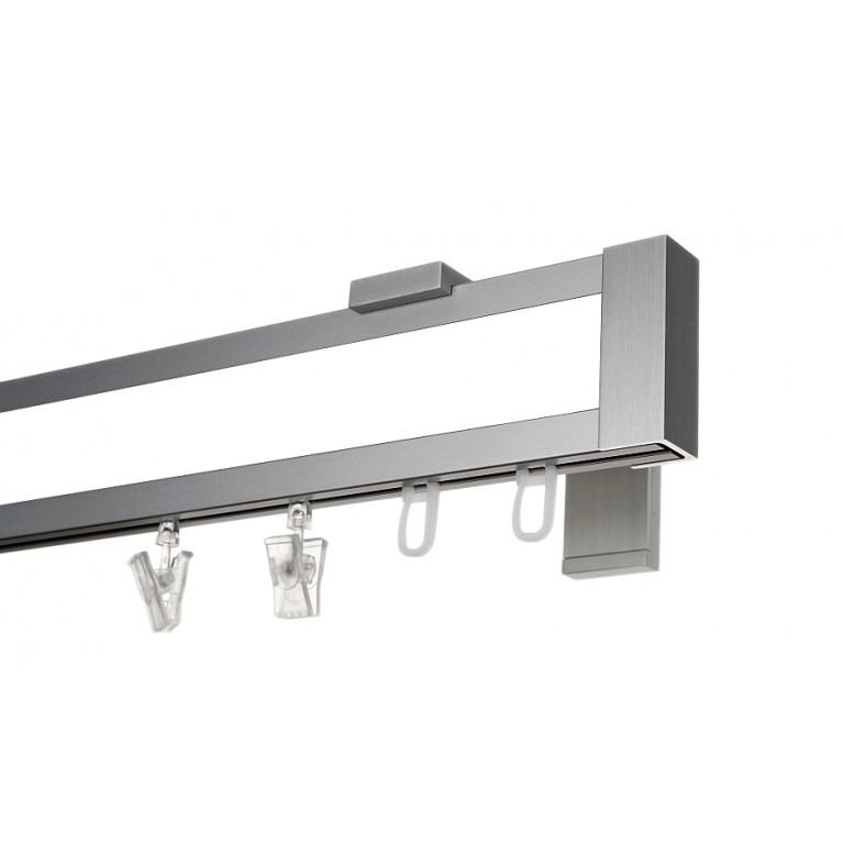 Karnisz Apartamentowy 52 mm pojedynczy chrom mat/biały