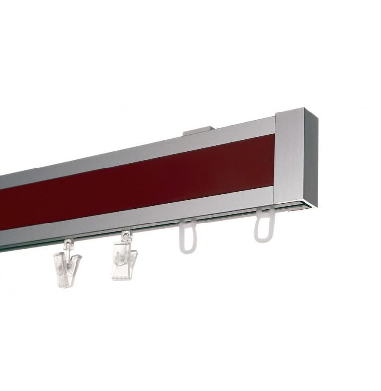 Karnisz Apartamentowy 52 mm sufitowy pojedynczy chrom mat/czerwony