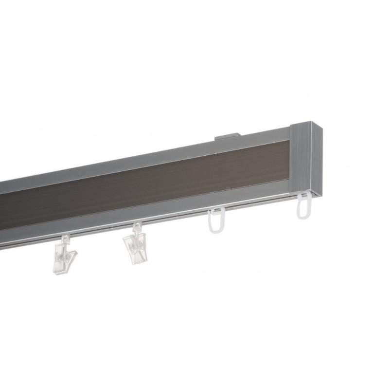 Karnisz Apartamentowy 52 mm sufitowy pojedynczy chrom mat/inox