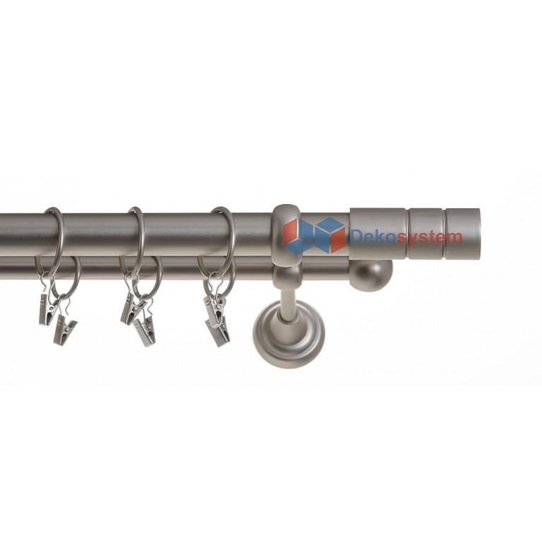Karnisz cylinder chrom mat dwubiegowy