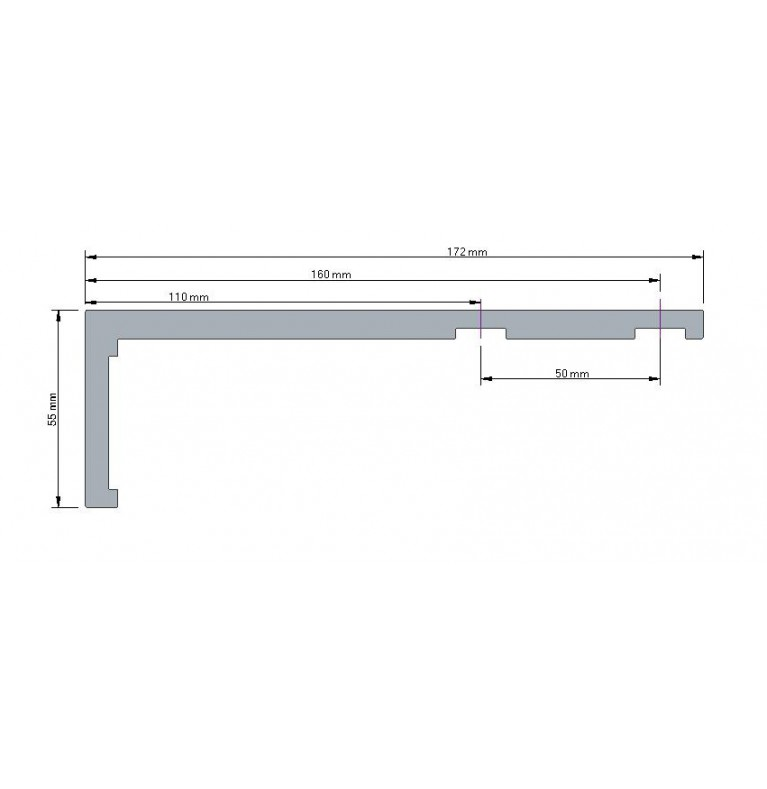 Karnisz Apartamentowy 52 mm dwubiegowy chrom mat/biały