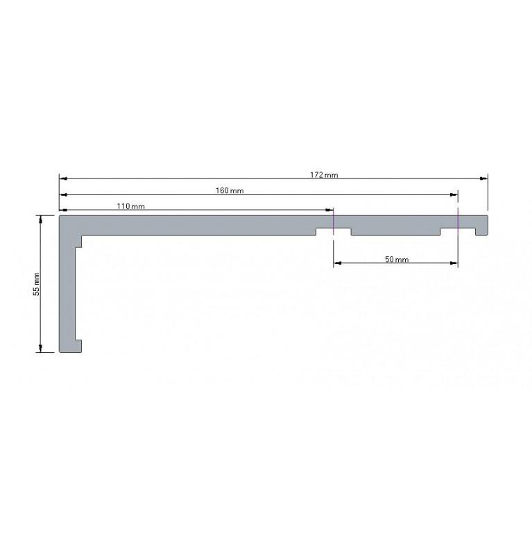 Karnisz Apartamentowy 52 mm dwubiegowy chrom mat