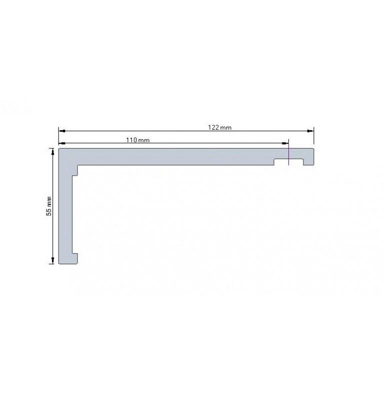 Karnisz Apartamentowy 52 mm pojedynczy czarny/biały